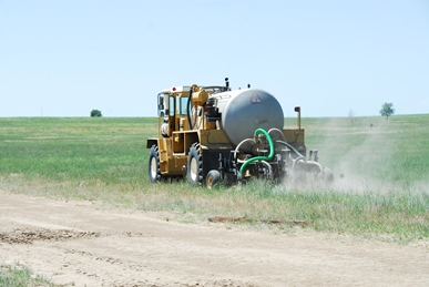 Terra-Gator biosolids land application