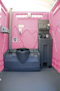 Inside the Boudoir Portable Toilet