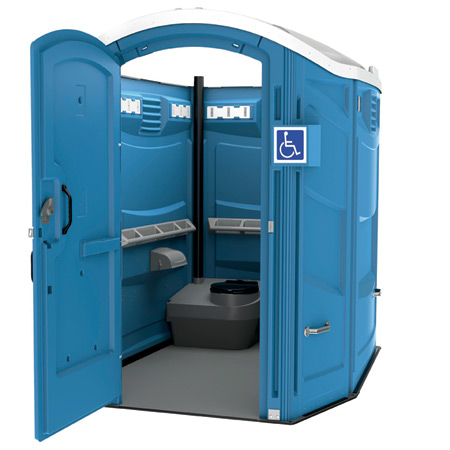 Exceptional ADA Complaint Portable Toilet ADA 67u2033x 86.5u2033