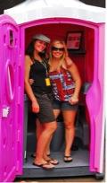 Women in Pink Ladies Toilet